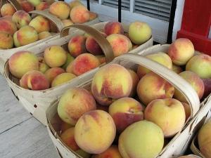 Geogia Peaches at Milton GA Farmers Market